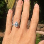 Stephanie Corbitt's Pear Shaped Diamond Ring