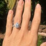 Stephanie Corbitt's Pear Shaped Diamond Ring