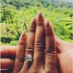 Brittany Johnson's Square Shaped Diamond Ring