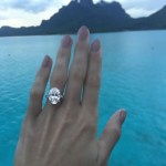 Caroline Wozniacki's Oval Cut Diamond Ring