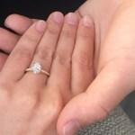 Gabi Dugal's Oval Cut Diamond Ring