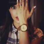 Hannah Simone's Round Cut Diamond Ring