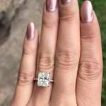 Janel Parrish's Emerald Cut Diamond Ring
