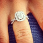 Nadia Bjorlin's Cushion Cut Diamond Ring
