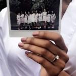 Erica Harris' Round Cut Diamond Ring