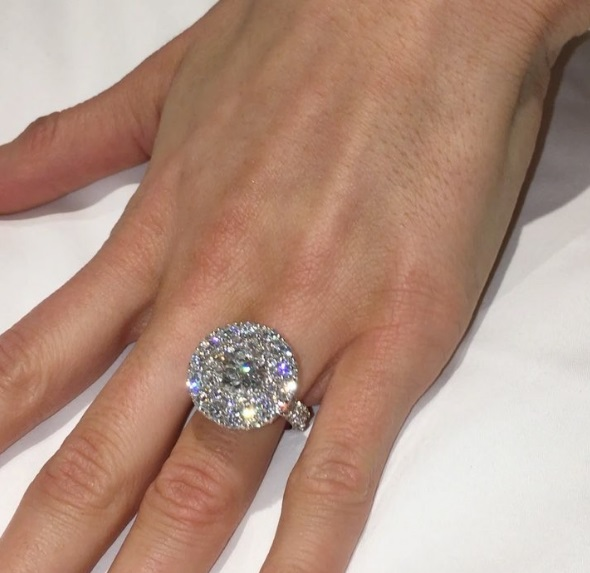 Maria DiGeronimos 7 Carat Round Cut Diamond Ring
