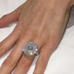 Maria DiGeronimo's 7 Carat Round Cut Diamond Ring