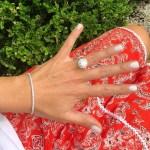 Roxy Jacenko's Round Cut Diamond Ring