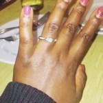 Catherine Kamau's Square Shaped Diamond Ring