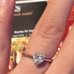 Rich Asuncion's Heart Shaped Diamond Ring