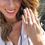 Tenley Molzahn's Oval Cut Diamond Ring