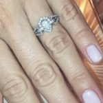 Chloe Morello's Pear Shaped Diamond Ring