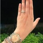 Dianne Medina's Round Cut Diamond Ring