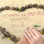 Elle Evans' Pear Shaped Diamond Ring