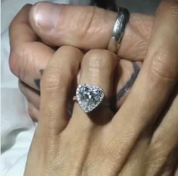 ef365e0800328 Brittany Furlan's Heart Shaped Diamond Ring