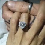 Brittany Furlan's Heart Shaped Diamond Ring