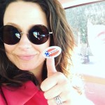 Katie Lowes' Square Shaped Diamond Ring