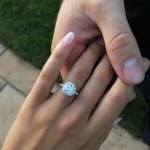 Kayla Itsines' Cushion Cut Diamond Ring