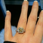 Stacey Beard's Cushion Cut Diamond Ring