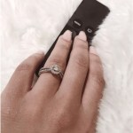 Thando Thabethe's Round Cut Diamond Ring