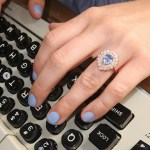 Nicole Franzel's Pear Shaped Aquamarine Ring