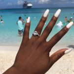 Ronke Raji's Oval Cut Diamond Ring
