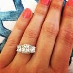 Meg McLeod's Square Shaped Diamond Ring