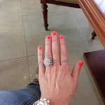 Alex Curran's Oval Cut Diamond Ring