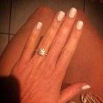 Emily Wilkinson's Round Cut Diamond Ring