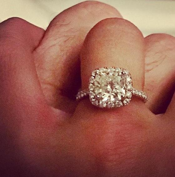 Ana Navarro Wedding.Ana Navarro S Princess Cut Diamond Ring
