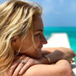 Amanda Hearst's Emerald Cut Diamond Ring