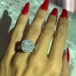 Erica Mena's Cushion Cut Diamond Ring