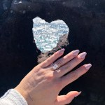 Nicole Hocking's Emerald Cut Diamond Ring