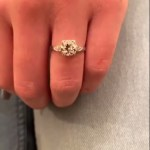 Taylor Lauren Sanders' Cushion Cut Diamond Ring