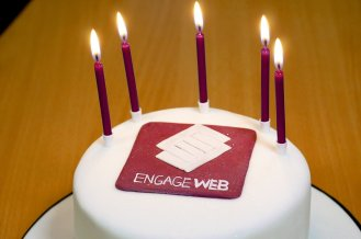 Engage Web's 5th Birthday Cake