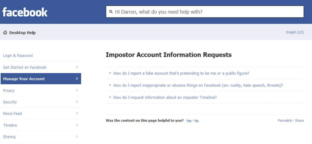 Impostor Account Information Requests