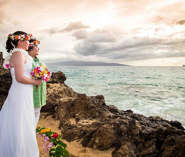 Maui Aloha Weddings Kihei Hawaii Lesbian Couple Wedding Day