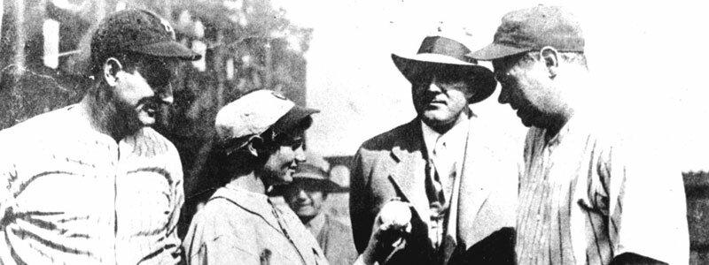 Jackie Mitchell, Joe Engel, Gehrig and Ruth