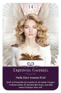 Gratis Kartenlegen Kraft der Engel Orakel Karte 14 Erzengel Gabriel