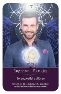 Gratis Kartenlegen Kraft der Engel Orakel Karte 17 Erzengel Zadkiel