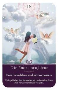 Gratis Kartenlegen Kraft der Engel Orakel Karte 18 Engel der Liebe