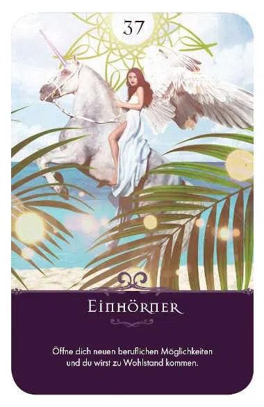 Gratis Kartenlegen Kraft der Engel Orakel Karte 37 Einhörner