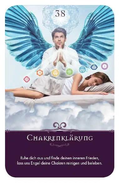 Gratis Kartenlegen Kraft der Engel Orakel Karte 38 Chakrenklärung