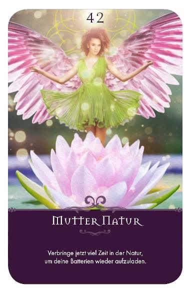 Gratis Kartenlegen Kraft der Engel Orakel Karte 42 Mutter Natur