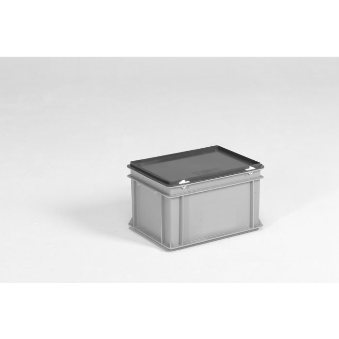 bac gerbable avec couvercle 20 litres 40x30x24 cm e line gris