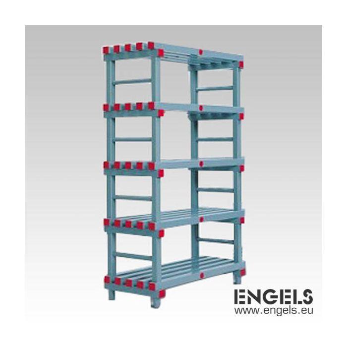 etagere alimentaire plastique 100x50xh177 cm 5 niveaux