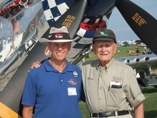 Clyde East (R) and I