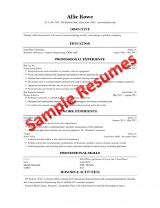 resume building for engineering students