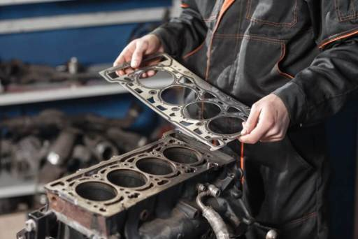 In an internal combustion engine, a head gasket provides the seal between the engine block and cylinder head(s).