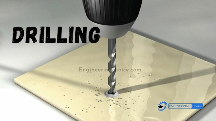 Drilling is a cutting process that uses a drill bit to cut a hole of circular cross-section in solid materials. The drill bit is usually a rotary cutting tool, often multi-point. Instead, the hole is usually made by hammering a drill bit into the hole with quickly repeated short movements.